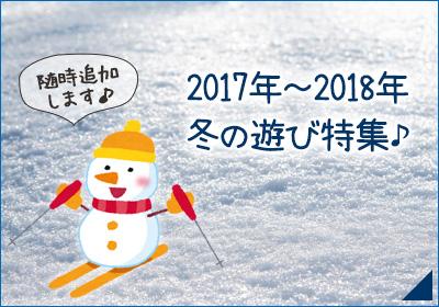 2017年~2018年 冬の遊び特集